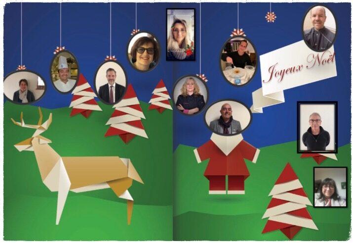 """L'équipe """"Hôtellerie """" vous souhaite un joyeux Noël et de belles fêtes"""