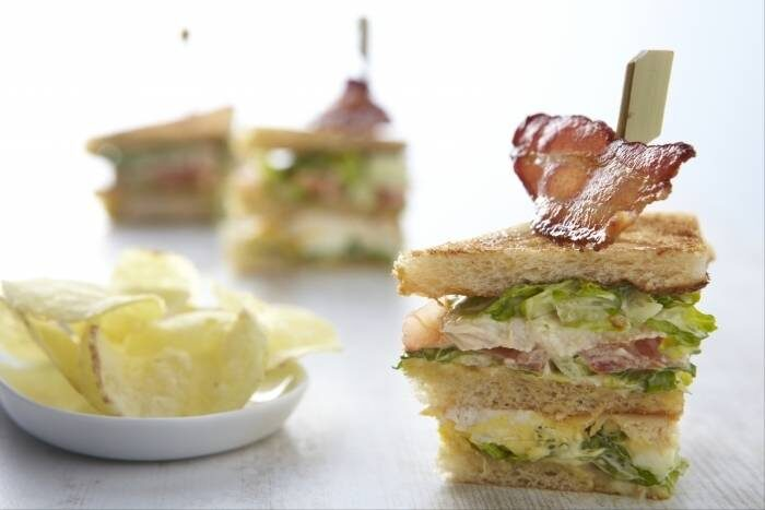 Club sandwich au poulet-  Photo non contractuelle