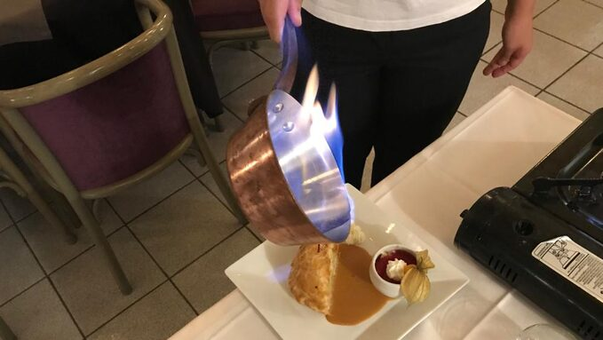 Flambage en salle